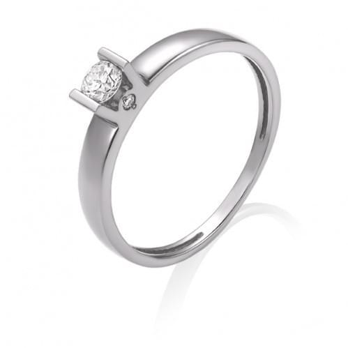 Каблучка з білого золота з діамантом КВ1203.00100Бн
