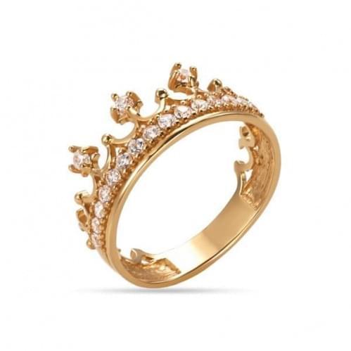 Золотое кольцо с фианитом КВ1208и