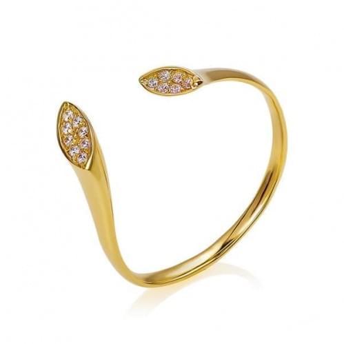 Кольцо из лимонного золота (Флорентино - Collection Florentino) КВ1211Л(к)