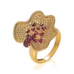 Кольцо золотое с цитрином (Флорентино - Collection Florentino)