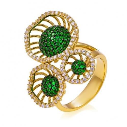 Кольцо золотое с кварцем (Флорентино - Collection Florentino) КВ1213Лн(к)