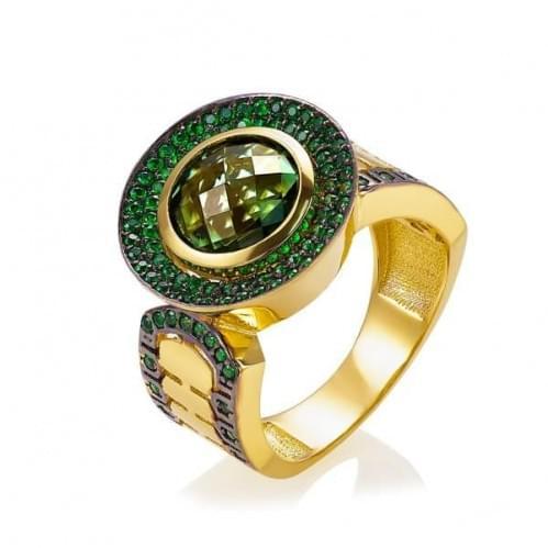 Кольцо золотое с кварцем (Флорентино - Collection Florentino) КВ1214Лн(к)