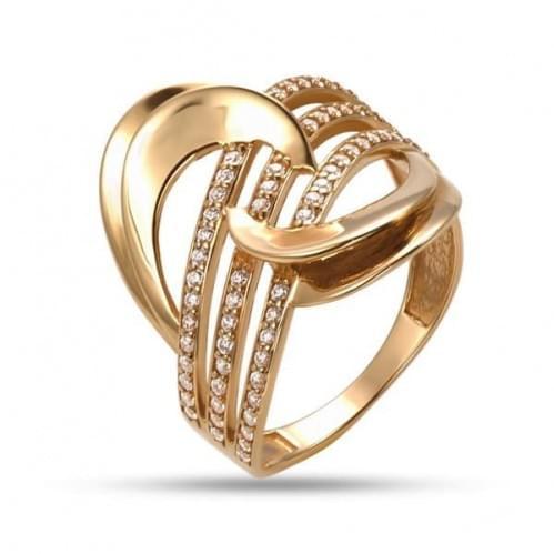 Золотое кольцо с фианитом КВ1216и