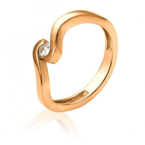 Золотое кольцо с бриллиантом КВ1218.00100н