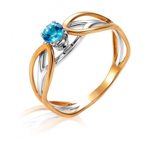 Золотое кольцо с топазом КВ1220.12101н
