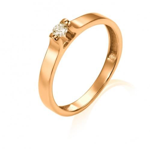 Золотое кольцо с бриллиантом КВ1222.00100н