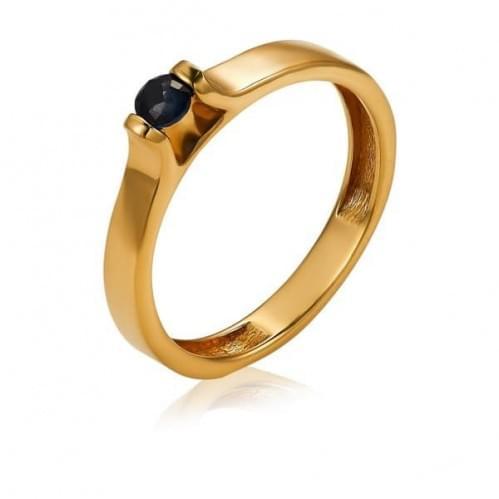 Золотое кольцо с сапфиром КВ1222.00302н