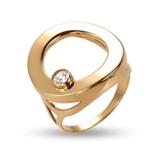 Золотое кольцо с фианитом КВ1229и
