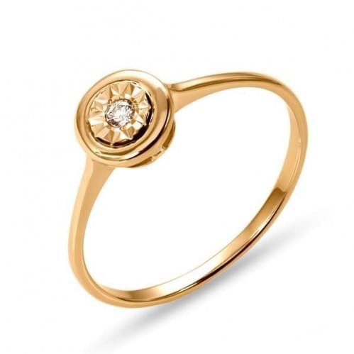 Золотое кольцо с бриллиантом КВ1231н