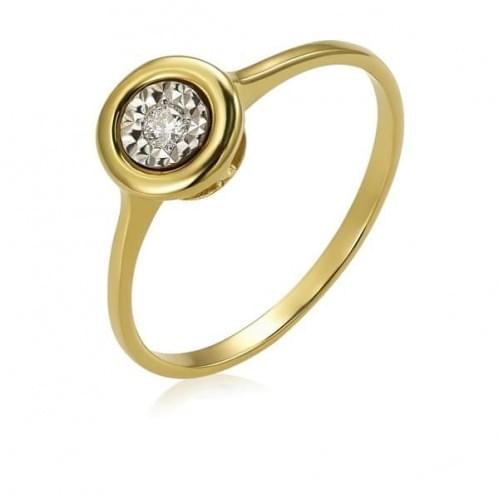 Каблучка з лимонного золота з діамантом КВ1231.00100Лн