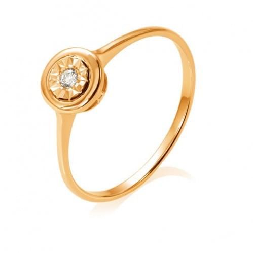 Золота каблучка з діамантом КВ1231.00100н