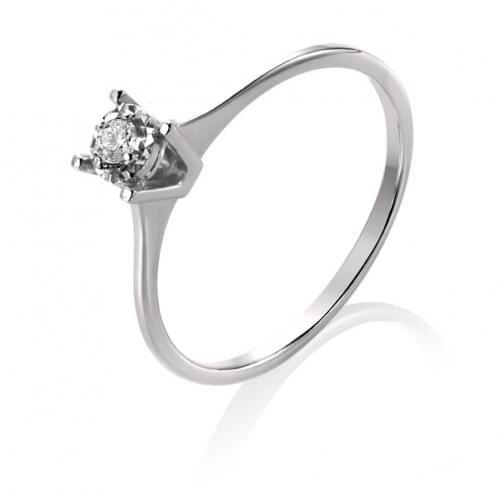 Каблучка з білого золота з діамантом КВ1232.00100Бн