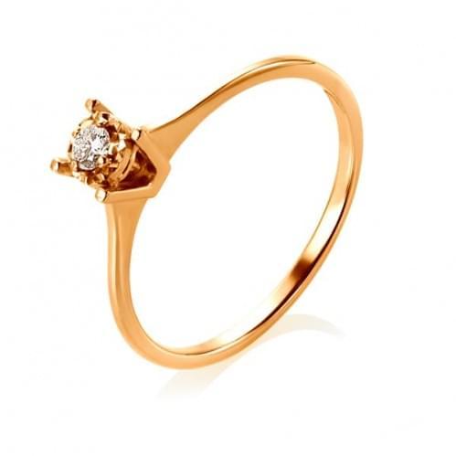 Золота каблучка з діамантом КВ1232.00100Кн