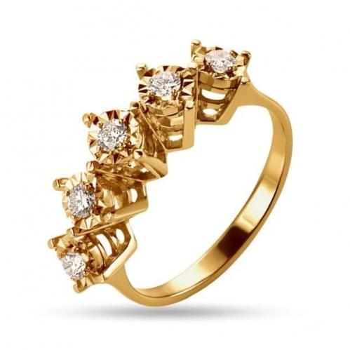 Золотое кольцо со вставкой КВ1235н