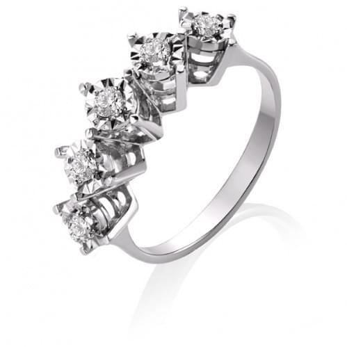 Кольцо из белого золота с бриллиантом КВ1235.00100Бн