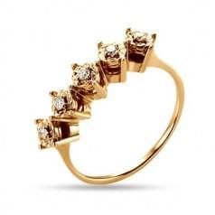 Кольцо в красном золоте с бриллиантами КВ1236н