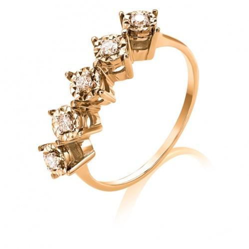 Золотое кольцо с бриллиантом КВ1236.00100н