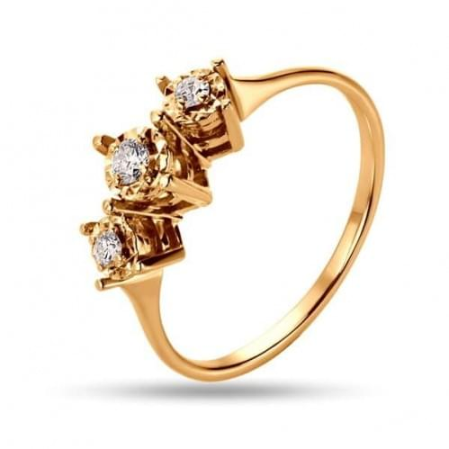 Золотое кольцо со вставкой КВ1237н