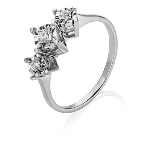 Кольцо из белого золота с бриллиантом КВ1237.00100Бн