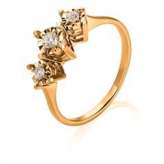 Золота каблучка з діамантом