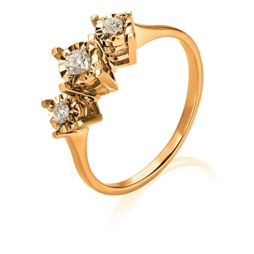 Золота каблучка з діамантом КВ1237.00100н
