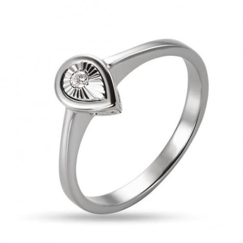 Кольцо из белого золота со вставкой КВ1238Бн