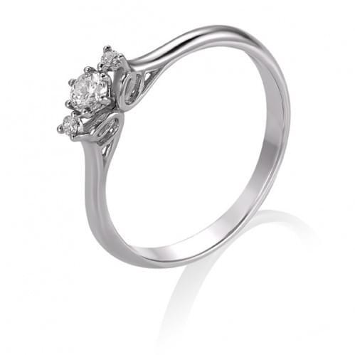 Кольцо из белого золота с бриллиантом КВ1241.00100Бн