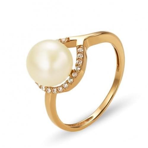 Золотое кольцо с жемчугом КВ1242и