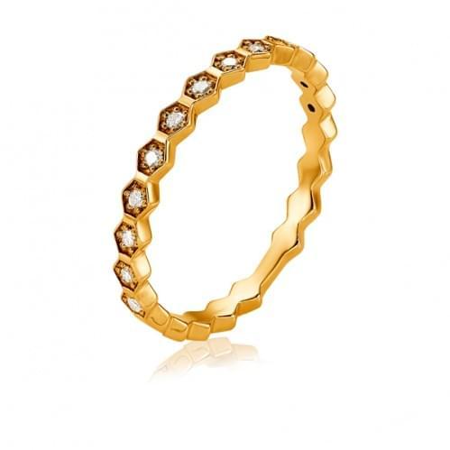 Золотое кольцо с бриллиантом КВ1249(2).00100н