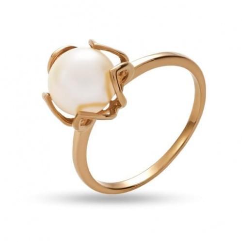Золотое кольцо с жемчугом КВ1255и