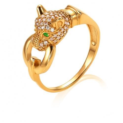 Золотое кольцо с фианитом КВ1256.07и