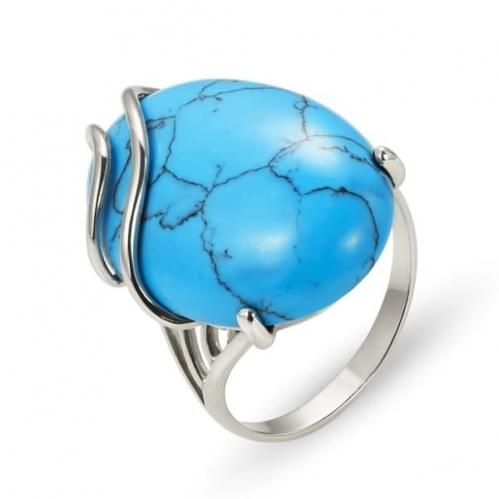 Серебряное кольцо с бирюзой КВ1257.1с