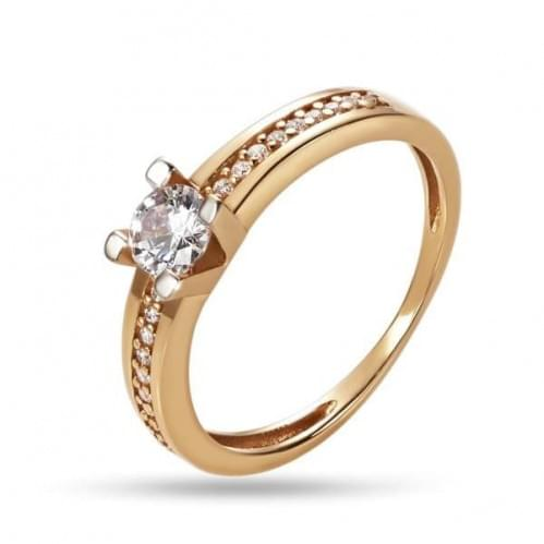 Золотое кольцо с фианитом КВ1270и