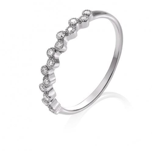 Кольцо из белого золота с бриллиантом КВ1273.00100Бн