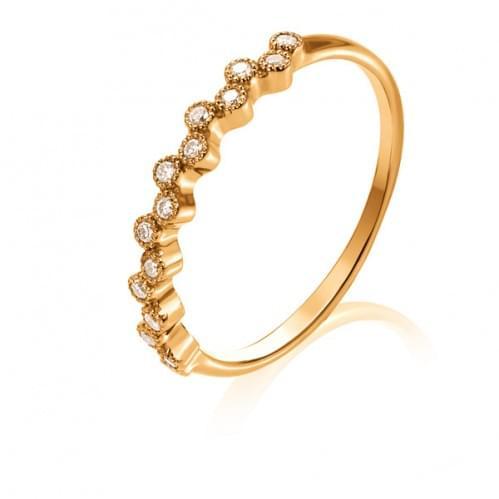 Золотое кольцо с бриллиантом КВ1273.00100н