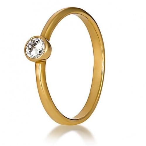 Золотое кольцо с фианитом КВ1283и