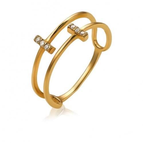 Золота каблучка з діамантом КВ1299.00100н