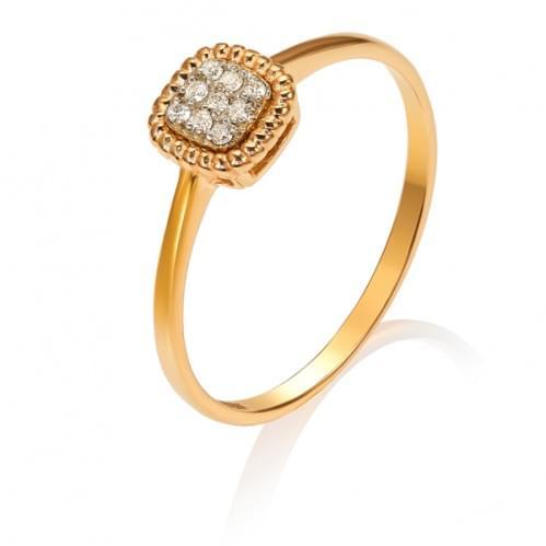 Золотое кольцо с бриллиантом  КВ1300.00100н