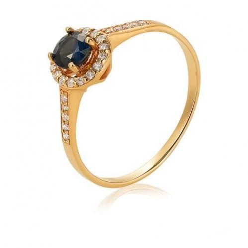 Золотое кольцо с сапфиром КВ1302(2).00302н