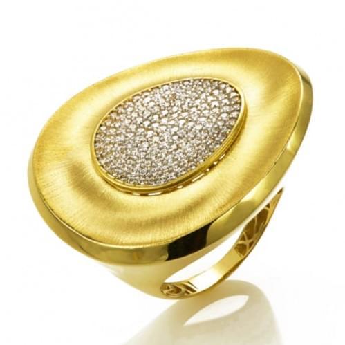 Каблучка з лимонного золота (Астарта - Collection Astarta) КВ1317Лк
