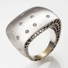 Кольцо из белого золота (Астарта - Collection Astarta) КВ1319Бк