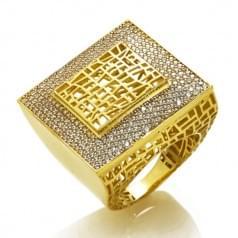 Каблучка з лимонного золота (Астарта - Collection Astarta)