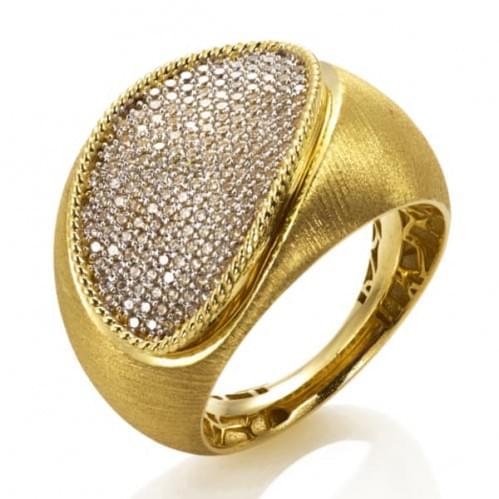 Кольцо из лимонного золота (Астарта - Collection Astarta) КВ1322Лк