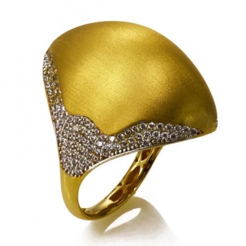 Кольцо из лимонного золота (Астарта - Collection Astarta) КВ1323Лк