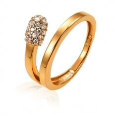 Кольцо золотое со вставкой