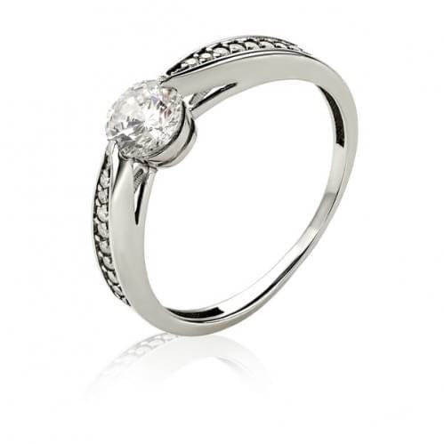 Серебряное кольцо с фианитом КВ1347с