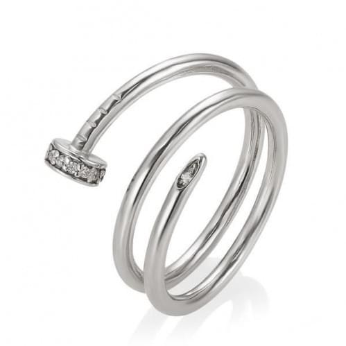 Серебряное кольцо с фианитом КВ1351с