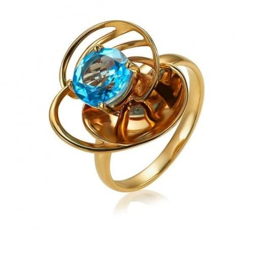 Золотое кольцо с топазом КВ1355.12101н