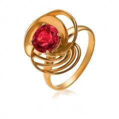 Золотое кольцо с нано рубеллитом