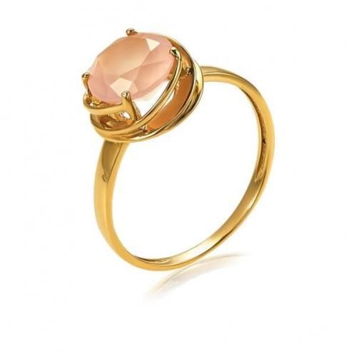 Золотое кольцо с кварцем КВ1361.14304н
